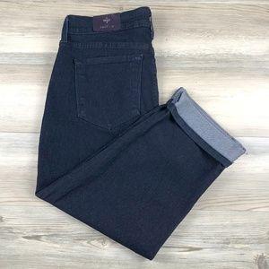 NYDJ stretch Crop Jeans with Cuff size 10